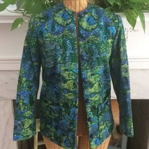Vintage 1981 Floral Jacket Blazer Taiwan